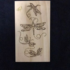Dragonfly Frenzy - each design a one off - order now for unique present